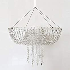 Romantic Wedding Faux Acrylic Crystal Chandelier Style Drape Suspended Cake Swing (Acrylic, DIA17.7)