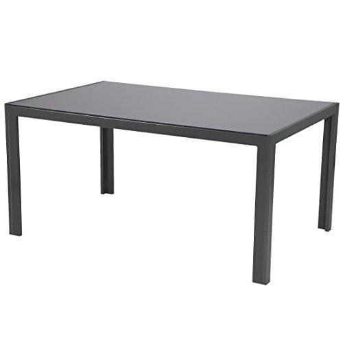 Ultranatura Aluminium Gartentisch, Korfu Serie - Basic, 150 x 96 x 73 cm, anthrazit