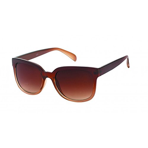 Chic-net lunettes de soleil style nerd pour femme style wayfarer uV 400 cateye verres teinte marron Marron marron CuFSCxi