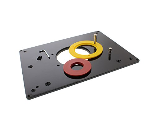 "DCT Universal Router Table Saw Insert Base Plate Kit, 3-7/8, 2-5/8, 1-1/4"" Inches – Cutter & Porter-Cable Template Guide - Table Insert Router"