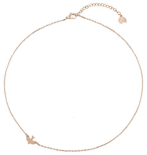 Happiness Boutique Bird Necklace Rose Gold | Delicate Swallow Necklace Stainless Steel Jewelry ()