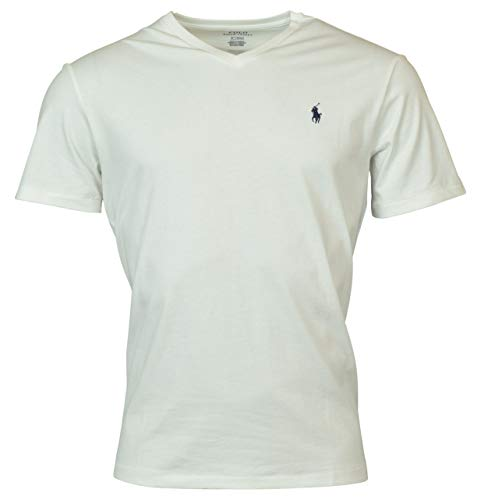 - Polo Ralph Lauren Mens T-shirt V-neck (XX-Large, White)