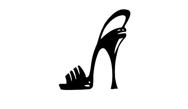 Stiletto High Heel Shoe Vinyl Decal Sticker