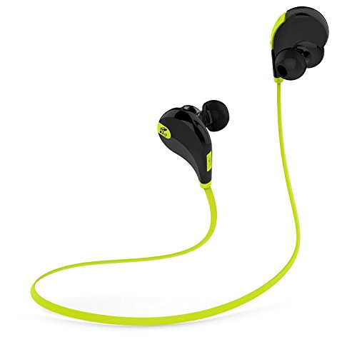 SoundPEATS QY7 V4.1 Bluetooth Mini Lightweight Wireless Stereo Sports Headphone - BlackGreen
