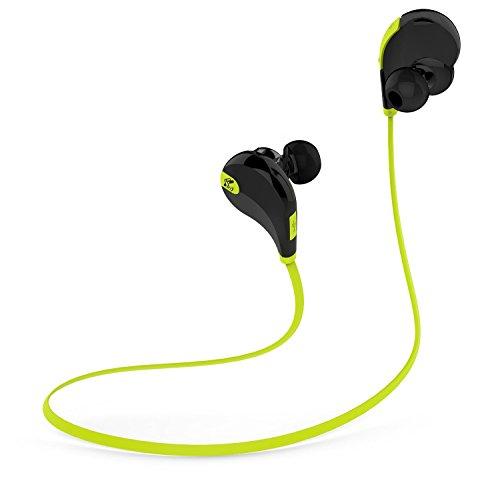 SoundPEATS QY7 V4.1 Bluetooth Mini Lightweight Wireless Stereo Sports Headphone - BlackGreen