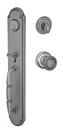 Fusion Hardware H-15-S2-0-ATP Elite Collection Ravina Two-Piece Interior Handleset with Rope Knob, Antique Pewter