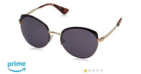 f171cf2842 Prada Women s PR 51TS Sunglasses Antique Gold Black   Brown 56mm at Amazon  Men s Clothing store