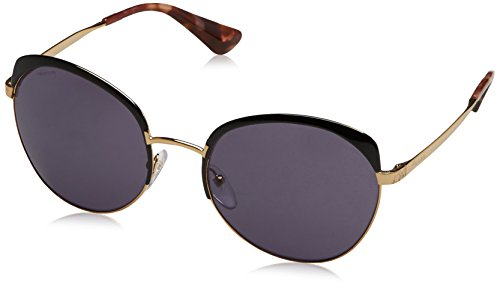 Prada Women's PR 54SS Sunglasses Antique Gold/Black/Violet -