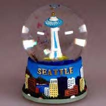 - Seattle Snow Globe Space Needle 45mm (approx 2.5