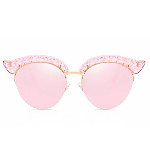 Half Frame Cat Américaine Soleil De Lunettes Et Européenne Personnalité Dames Sakuldes Pink Eyes Lunettes Color Mode Soleil De Blue xWnFPzq