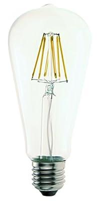 FluxSmart 8W Dimmable Edison Style Vintage LED Filament Light Bulb, 2700K Warm White 800LM,E26 ST21 / ST64 Base Lamp, Special Spiral Filament Technology,60W Incandescent Bulb Equivalent
