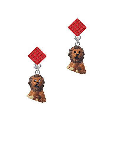 Resin Tan Lion - Red Lulu Diamond-Shaped (Red Lion Diamond)