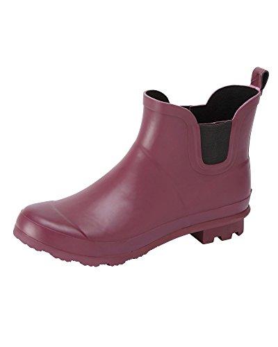 Boots Fit Unisex Ankle Claret Cotton E Wellington Traders waTqxW6RI