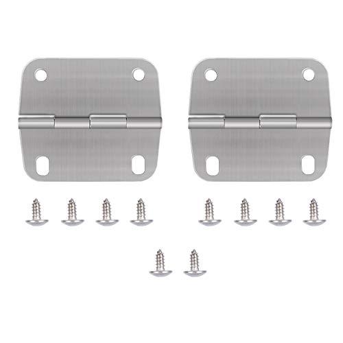 AIEVE Cooler Hinges and Screws Set,Cooler Replacement Hinges,Stainless Steel Cooler Hinges and Screws Replacement for Coleman Coolers Parts Accessories