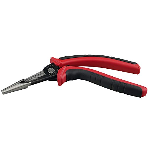 KAIFNT K602 Ergonomic 6-In-1 Combination Wire Service Tool, Stripping Crimping and Gripping Pliers, 8-1/2