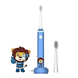 Leyoung Kids Electric Toothbrush, Vibrating Toothbrush for Children Boys and Girls Age 3-13, with Smart Timer Rechargeable Electric Toothbrush, IPX7 Waterproof Christmas Gift for Kids