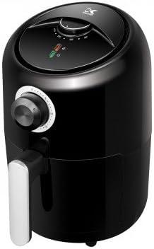 Kalorik 1.75 Quart Personal Air Fryer, Mini Space Saving Electric Healthy Cooking, Timer and Temperate Controls, Black.