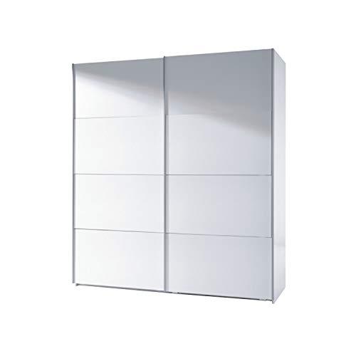 Habitdesign Armario Dos Puertas correderas, Armario Dormitorio, Acabado en Color Blanco Brillo, Medidas 180 (Ancho) x 200 (Alto) x 63 cm (Fondo)