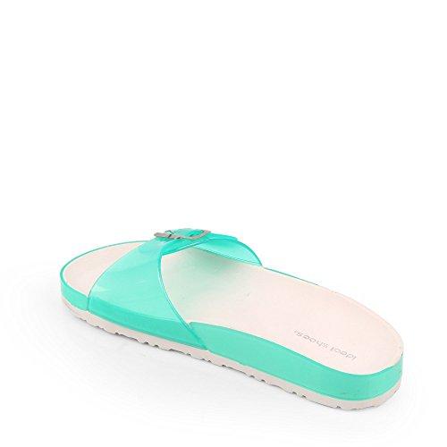 Ideal Shoes Barfuß Kunststoff Solange Grün
