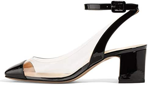 Details about  /Forever-01 Open Toe Chunky Block Heel Ankle Buckle Round Strap Sandal For women
