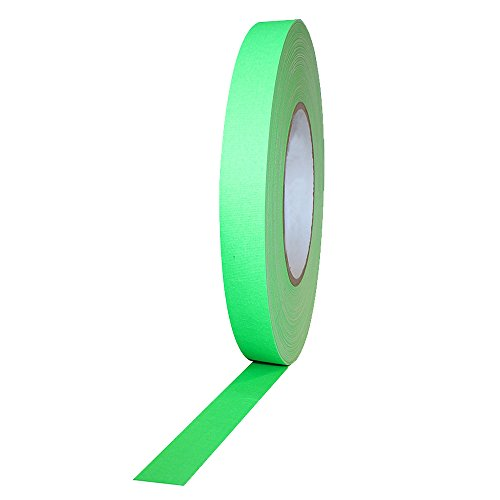 Selens 0.4 in X 75.5ft UV Blacklight Reactive Fluorescent / Neon Gaffer Dark Tape Sticker for Reactive Parties, Clubs and Studios, Removable, Waterproof, Photoluminescent, Green by Selens
