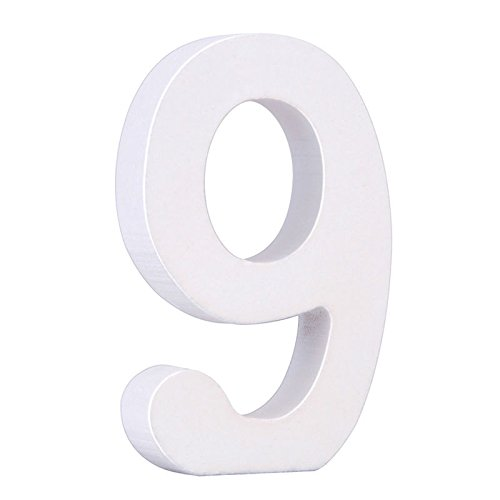 Smartcoco DIY Wooden Hight 8 CM Width 4-5 CM Number 0 1 2 etc 10 Numbers Arbitrary Collocation Design Home Party Decor