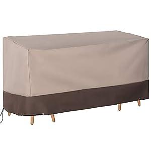 Outsunny Funda para Muebles de Jardín 600D Oxford Protecció contra el Polvo los Rayos UV Cubierta para Mobiliario Exterior 127x72x76 cm para Mesas Sillas Sofás Marrón