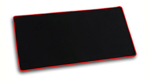 Yakalla Extended Non-slip Rubber Base - Special Treated Textured Weave with Precision Control Gaming Mouse Pad, Stitched Edges, Speed Silky Smooth Surface (red) (Red)
