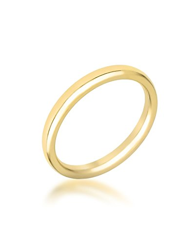 Kate Bissett 2mm IPG Gold Stainless Steel Band in Gold Tone Size 8 from Kate Bissett