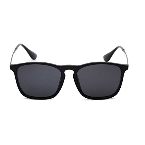 NUBAO Polarized Sunglasses Men And Women Hipsters Drive Sunglasses Retro Drivers Square Driving Sunglasses Outdoor Travel Beach Break Essential (Color : Black) (Was Sonnenbrille)