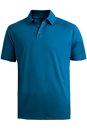 Edwards Garment Mens Double Needle Button Sports Polo Shirts_SAPPHIRE_6XLT