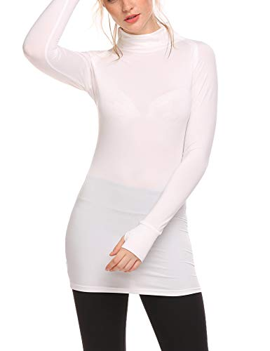 - Guteer Women's ColdGear Running Shirts Long Sleeve T-Shirt Athletic Compression Gym Yoga Pullover