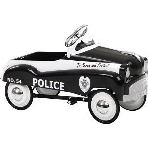 Police Retro Car Pedal - InSTEP Retro Police Pedal Car Ride On - PC200
