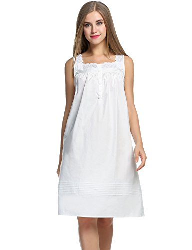 HOTOUCH Womens Sleeveless Sleepwear Nightgown product image