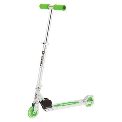 Razor A Lighted Wheel Kick Scooter - Neon Green