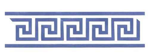 Greek Key Wall Stencil SKU #2651 by Designer Stencils
