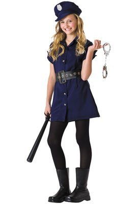 Police Woman Costume For Sale (RG Costumes Juniors in The Line of Duty Police Costume, Standard/2X)