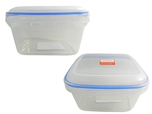 Square Food Container with Locks Size: 8''X8'' , Case of 48