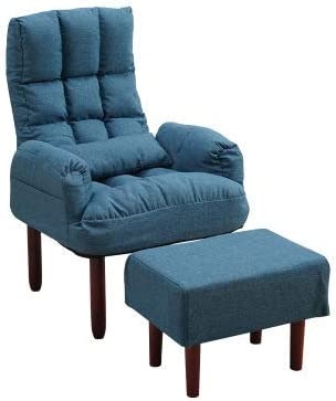 Single Leisure Fabric Sofa Chair Home Balcony Lazy Sofa Bay Window Leisure Backrest Armrest Sofa Recliner