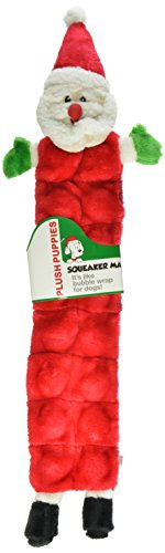 Outward Hound Kyjen PP03320 Squeaker Mat Santa Holiday 16-Squeaker Plush Squeak Toy Dog Toys, Large, Red Kyjen Plush Squeak Mat