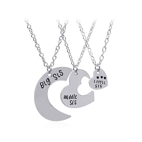 edited Women Best Friends Charm Chain Pendant Jewelry Necklace Pendant Necklaces from edited