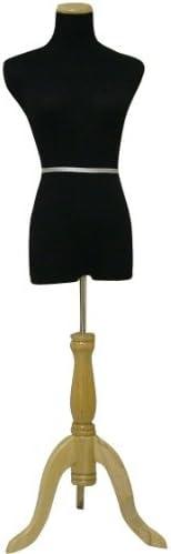 M Made by OM 35Chest 26Waist 34Hips Black Female Mannequin Dress /& Slacks Form Black Tripod Base