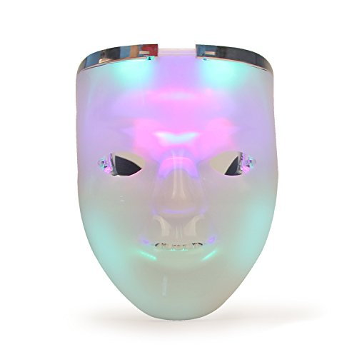 Realistic Masks Cheap (Light up Mask, DAXIN DX Scary Mask Halloween Cosplay Led Costume Mask Party Cool Mask for Festival Parties, 2 in 1)