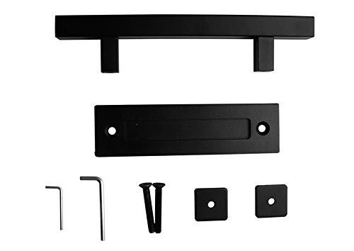color negro NUZAMAS manija de puerta de acero inoxidable manija de puerta corredera tirador y desag/üe de un solo mango cuadrado
