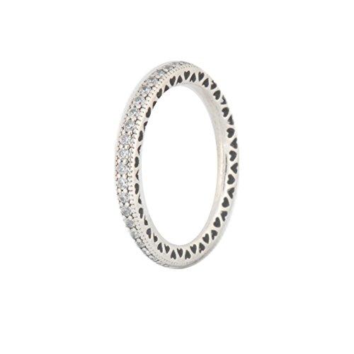 PANDORA Hearts of PANDORA Ring, Clear CZ 190963CZ-58 EU 8.5 US - Pandora Stackable Rings