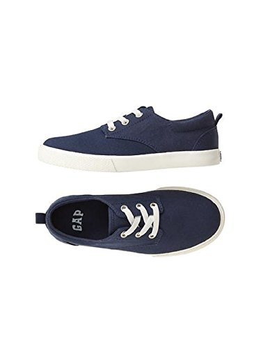 GAP Boys Size 11 Canvas Sneakers Sports Shoes Slip on Footwear Elysian Blue Rubber Sole