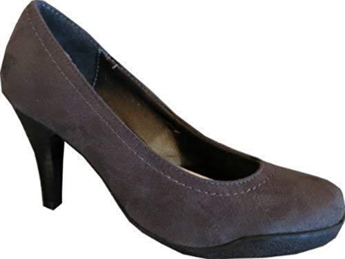 Zapatos Sintético Vestir Gris Mujer Material Pumps Chillany De 6FxUUT