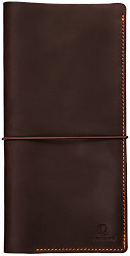 Genuines Leather Travel Document Holder – Leather Boarding Pass Holder / Stylish Passport Holder With Easy On/Off Strap – Never Misplace your Passport again with this Travel Wallet!