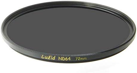 LURMVID 72mm ND64 6ストップ MCフィルター ショットB270 ガラス 真鍮フレーム ND 1.8 マルチコート 72 ルジッド