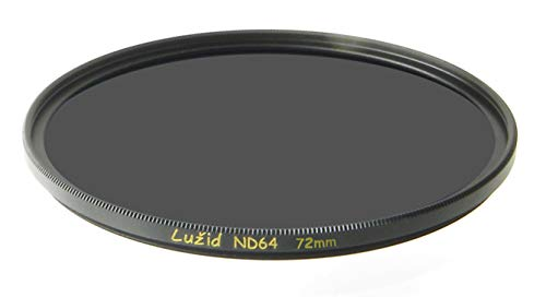 LUŽID 72mm ND64 6 Stop MC Filter Schott B270 Glass Brass Frame ND 1.8 Multi-Coated 72 Luzid